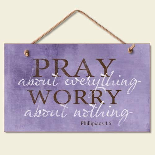 bouti1583 Pray About Everything Wooden Sign Decor 9.5' by 5.75' 41-250 (Standard Version)