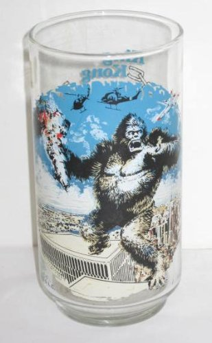 Vintage King Kong Coca Cola Limited Edition Glass 1976