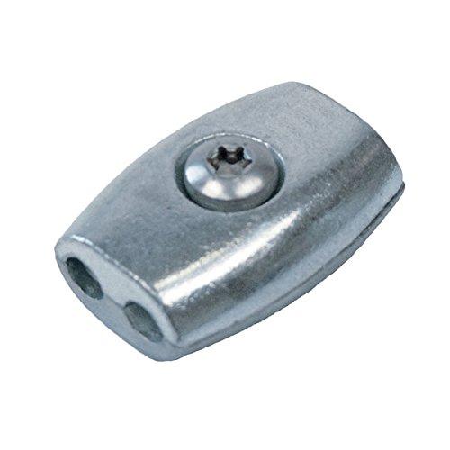 Eiform Seilklemme für 3mm Drahtseil / Edelstahl V4A / Drahtseilklemme Klemme Niro