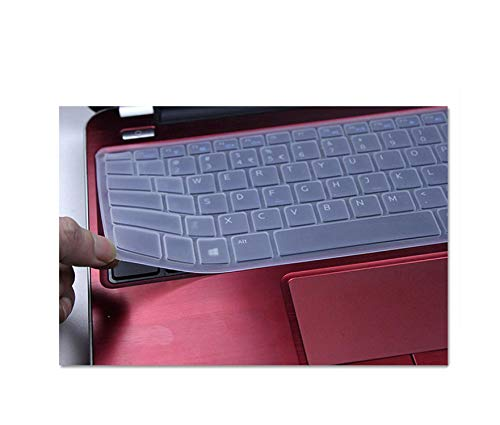 Protective Laptop Keyboard Cover 14 Inches for Dell Inspiron 14R 5437 N4050 N4110 3437 5525 5520 1420 1410 1520 1525 1545 1500-Transparent