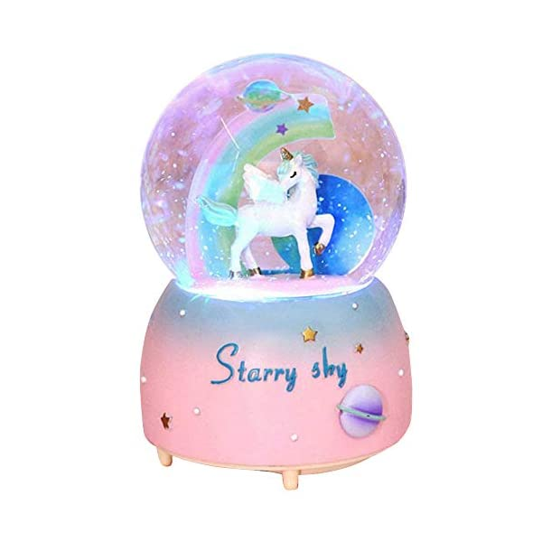 Unicorn Snow Globe for Kids, VECU Snow Globe with Music Perfect Unicorn Music Box for Girls, Granddaughters Babies… 3