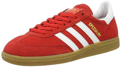 adidas Spezial, Sandalias con Plataforma Hombre, Multicolor (Colred/Ftwwht/Goldmt), 41 1/3 EU