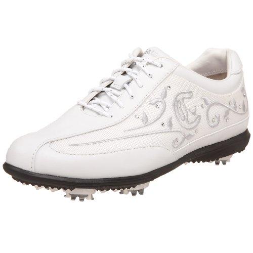 Callaway Women's Brocade Golf Shoe,White/Snow White,8 M US