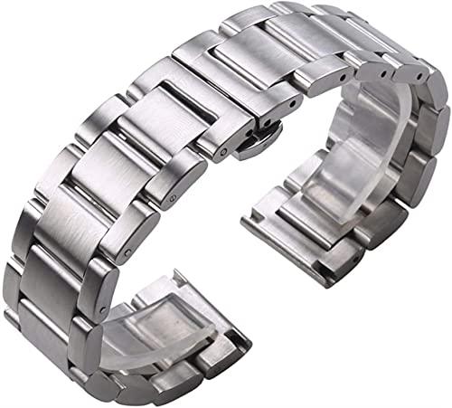 chenghuax Mira la Correa, sólido 316L de Acero Inoxidable Reloj de Reloj de Plata 18 mm 20 mm 21 mm 22 mm 23 mm 24 mm Reloj de Reloj de Metal Correa Relojes de Pulsera Pulsera Pulsera