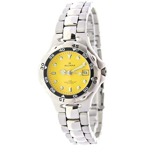 Blumar Bl-09094 Reloj Analogico para Mujer Caja De Metal Esfera Color Amarillo