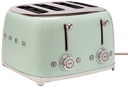 Buy Discount Smeg 4 Slot Toaster Pastel Green TSF03 PGUS