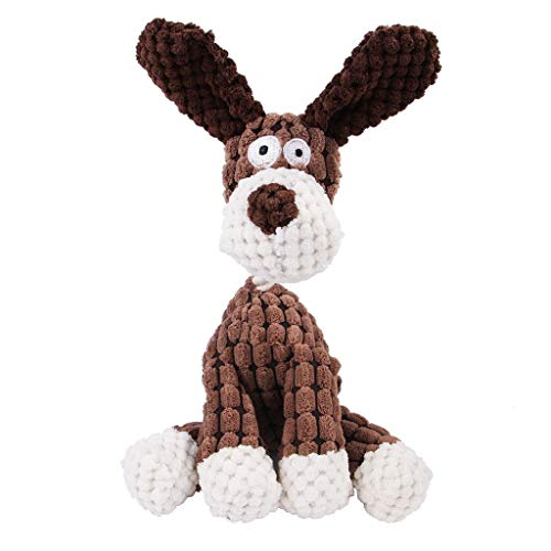 Whinop Hundespielzeug unzerstörbares Welpenplüsch Stofftier Welpen Spielzeug Macht EIN Geräusch 26CM