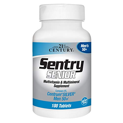 21st Century Sentry Senior Men 50Plus Tablets, 100 Count