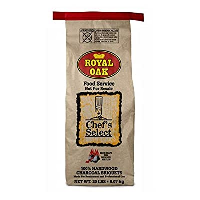 Royal Oak Natural Organic Premium Hardwood Charcoal Briquettes for Grills and Smokers, 20 Pounds