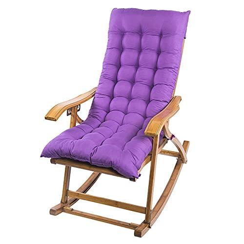 Pteng Cuscino per sedia da esterno Cuscino per sedia a dondolo, Cuscini per sdraio antiscivolo, Cuscino con schienale alto Tappetino per sedia da giardino spesso Cuscino per sedia a sdraio da