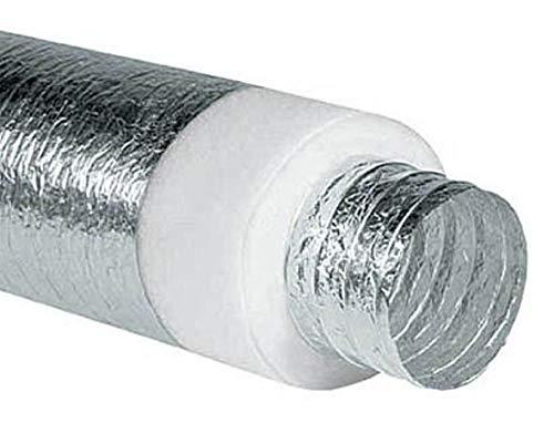 Tubo Flessibile Alluminio Isolato Afonico per Aria Calda Fredda VMC 10 metri (DN 152)
