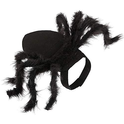 Traje De Araña para Mascotas, Ropa De Araña para Mascotas Perro Gato Horror Simulación Araña De Felpa Disfraz De Disfraz para Gatos, Perros