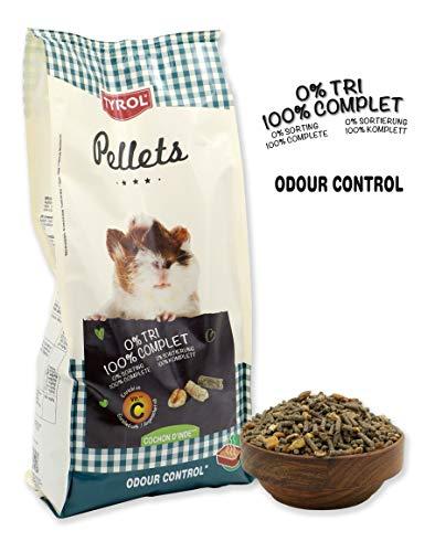 Tyrol Aliment Complet Premium Pellets Cochon d'Inde/Repas Granulés Vitamine C Fibres