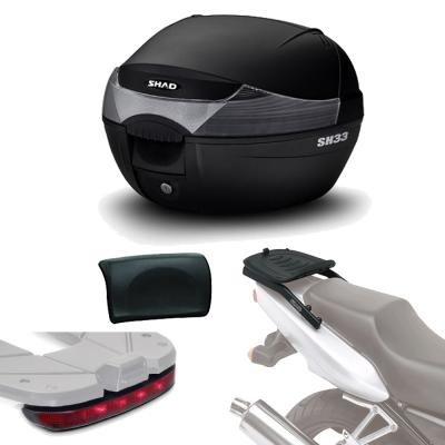 Sh33lurehe49 - Kit fijacion + Maleta baul Trasero + luz de Freno + Respaldo Regalo sh33 Compatible con Yamaha Tracer 900 2015-2017 Yamaha mt-09 Tracer 2015-2016