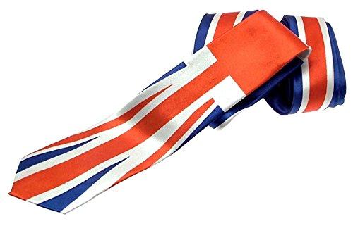 Mode Union Jack Cravate 100% polyester – Skinny Motif