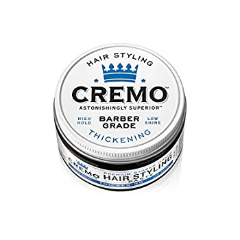 Cremo Premium Barber Grade Hair Styling Thickening Paste High Hold Low Shine 4 Oz