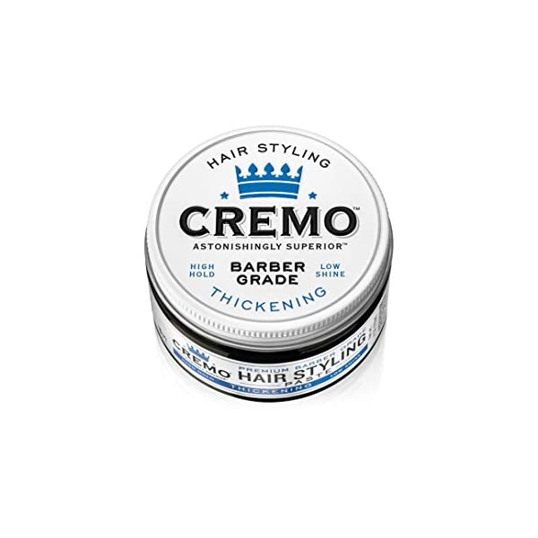Cremo Premium Barber Grade Hair Styling Thickening Paste, High Hold, Low Shine, 4 Oz 1