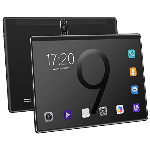 Tablet Intelligente, Android 8.0 de 10 pulgadas, procesador de cuatro pulgadas, pantalla HD de 6 GB + 128 GB, GPS, WiFi, tarjeta SIM, 4000 mAh, altavoces estéreo y dos cámaras.