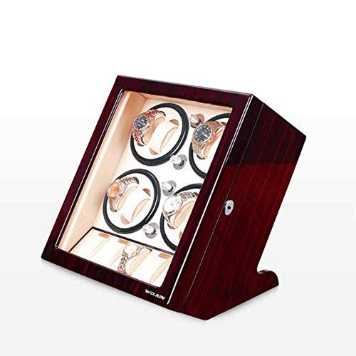 YLJYJ Watch Winder Watch Winder, Household Watch Winding Storage Box Gift Automatic Mute Motor Portable Single Epitope Rotate Chair Shaker Winding Watch BO