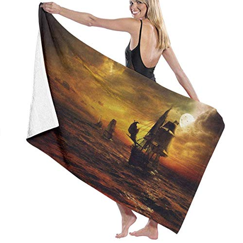 Yuanmeiju Toalla de baño Beach Towels Ship Bath Towels For Teen Girls Adults Travel Towel Washcloth 31x51 Inches