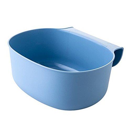 quanjucheer Müllkorb für Schranktür, zum Aufhängen blau