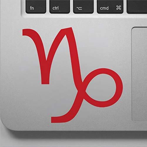 Calcomanía de signo del zodiaco de Capricornio con signo del zodiaco de Capricornio, adhesivo para computadora portátil, vinilo divertido para portátil