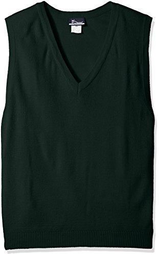 Classroom School Uniforms Men's Plus Size Adult Unisex V-Neck Sweater Vest, Hunter, XX-Large