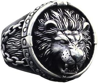 خاتم الاسد بشكل جديد وشغل يدوى - فضة تركى عيار 925