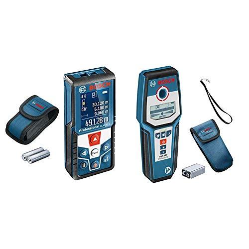 Bosch Professional GLM 50 C Distanziometro Laser con Rilevatore Digitale GMS 120, Campo di Misura 0.05-50 m, Bluetooth, profondità di Rilevamento Massima 120/80/50 mm