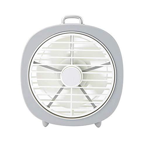 Yiyu Mini Abkühlender Schreibtisch-Tischventilator Mit Nachtlicht Abnehmbare Mesh-Abdeckung USB-Lade Fan Brushless Motor Elektrisch Kühl Für Kinderwagen, Auto x (Color : 1)