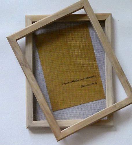 tribal paper bhutanpaperarts – Telaio per riciclare la carta fai da te 23 x 30 per A4 / strumento tradizionale adatto anche per ragazzi, incluse istruzioni (lingua italiana non garantita)