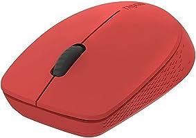 ماوس لاسلكي ام 100 سايلنت متعدد الاوضاع من رابو (لون احمر) - يعمل مع ماك
