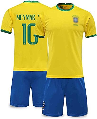 GJPSXTY Camiseta de fútbol NéyMar No. 10 Brasil Local y Weew, Trajes...