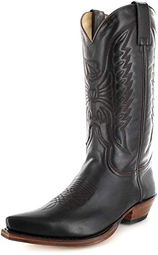 Sendra Boots 2073 Marron/Damen & Herren Cowboystiefel Braun/Westernstiefel/Cowboy Boots/Brauner Stiefel, Groesse:48