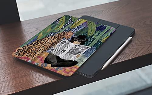 Custodia Compatibile con iPad7a generazione 2019, Space Artist Colourful A Leopard Reading Newspaper Sit by A Lady in Tropical ForeLeggero Custodia Protettivo con per iPad 10.2 , Auto Svegliati