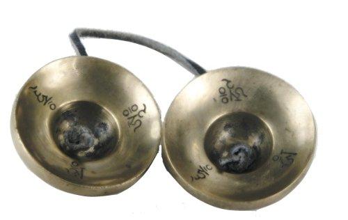 "Tingsha Tibetan Meditation Bell 2.5"" Dragon Embossed"