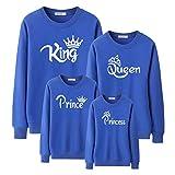Familien Outfit Set,Fashion Family Look Mama und ich Mutter Tochter Vater Sohn König Königin Prinzessin passende Kleidung schwarz Sweatshirt Outfits-E_Prinz 10T