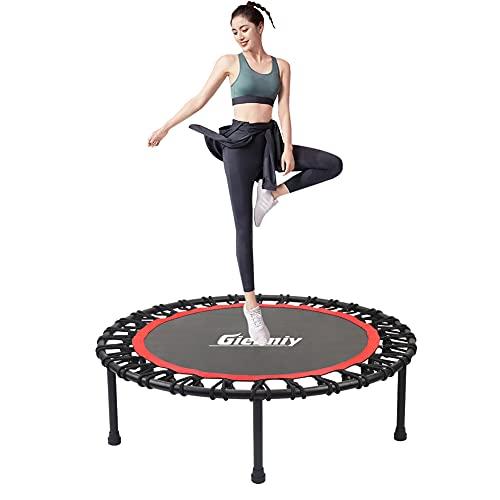 Gielmiy Trampolín Fitness ,Ø101 cm ,Adecuado para Adult Trampolín Profesional para Jardín, Gimnasio ,Peso Máximo 150 kg