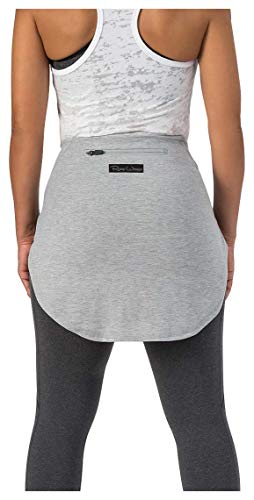 Rump Wrapps - Booty Cover Up for Gym and Street Wear (Solid Heather Grey, Regular Length- 17')