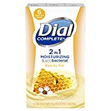 Dial Complete 2 in 1 Moisturizing & Antibacterial Beauty Bar Soap, Manuka Honey,...