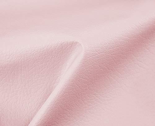 HAPPERS 0,50 Metros de Polipiel para tapizar, Manualidades, Cojines o forrar Objetos. Venta de Polipiel por Metros. Diseño Beckham Color Rosa Ancho 140cm