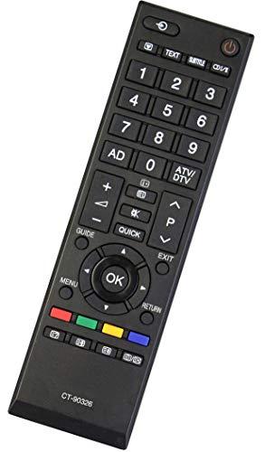 ALLIMITY CT90326 CT-90326 Fernbedienung Ersetzen für Toshiba LED LCD TV 22AV733G 22AV733N 26AV615 32AV603PR 32AV733 32AV733D 32EL833B 32EL833F 32L2453RB 32RV623D 32RV625D 37AV603PG