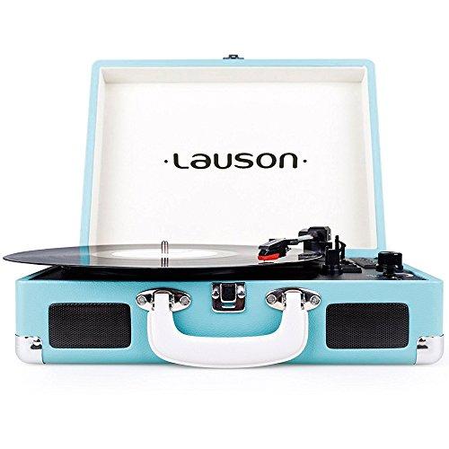 Lauson CL604 Tocadiscos Maletín, Bluetooth, USB, Salida RCA