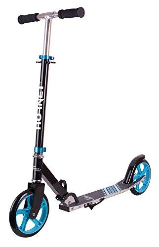 Hornet Unisex Jugend Scooter Roller 200 Kickscooter, schwarz/blau, 200 mm