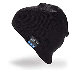 Momoday Hands-free Wireless Bluetooth Music Soft Warm Beanie Hat with Stereo Headphone Headset Speaker with Mic