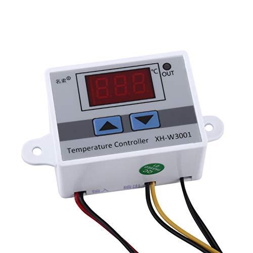 VINGVO Interruptor de termostato, termostato Digital de Alta precisión, protección de Control de Temperatura de 12 V para Sistema de Aire Acondicionado Área de eclosión 60 X 45 X 32 Mm
