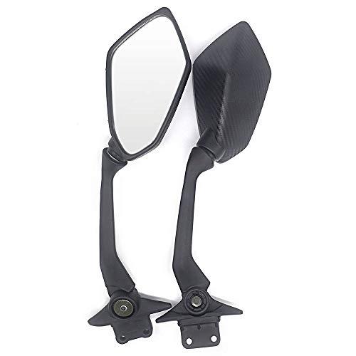 Motocicleta Retrovisores Laterales Fibra de carbono espejos retrovisores laterales Espejo lateral en forma Fit For Yamaha TMAX 530 TMAX 530 TMAX530 Accesorios Moto Amplio campo de visión del espejo Re