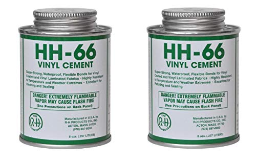 HH-66 PVC Vinyl Cement Glue with Brush 8oz (1) (Two Pack)