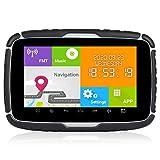Moto Navigazione GPS Sat Nav RAM 1G ROM 16G 5 pollici Android 6.0 impermeabile di navigazione del motociclo di Bluetooth GPS Mappa (Color : GPS 32GB)