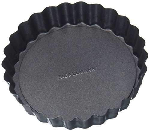 Fm Professional 21682.0Molde Tarta con Base extraíble, Acero, Negro